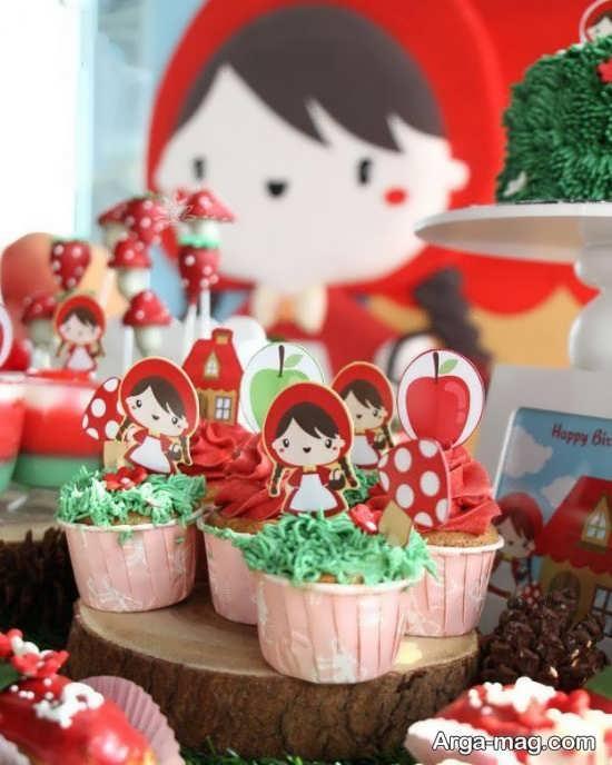 دیزاین قشنگ جشن تولد با طرح شنل قرمزی