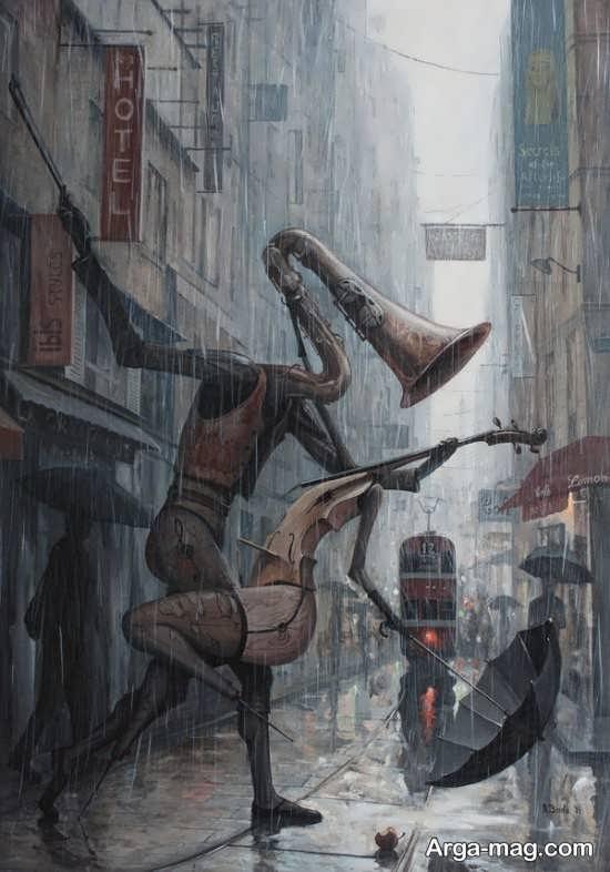 نقاشی زیبا و سورئال