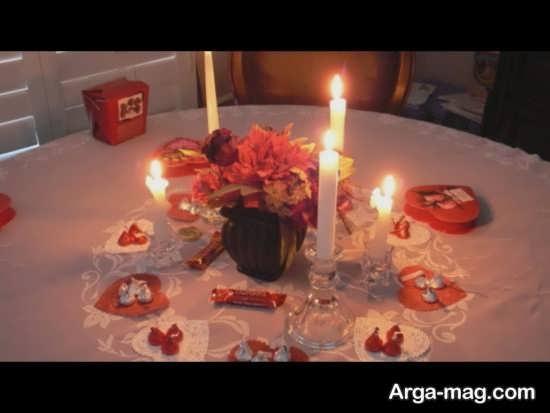 تزیین شمع با تم تولد رمانتیک
