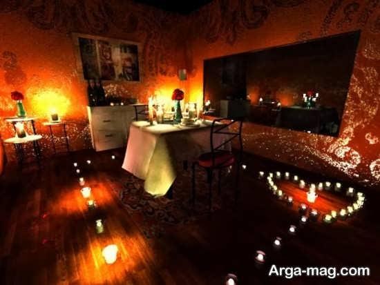 تزیین زیبا شمع با تم تولد رمانتیک