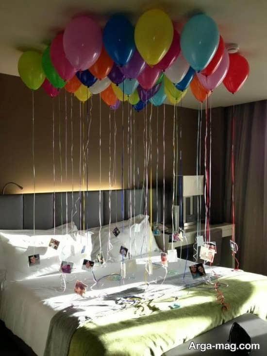 تزیین زیبا اتاق خواب با تم تولد رمانتیک