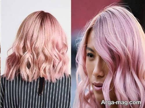 رنگ موی رز گلد