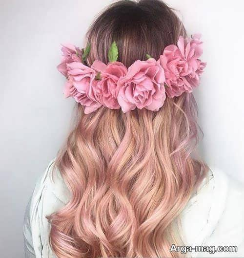رنگ موی زیبا و خاص رز گلد