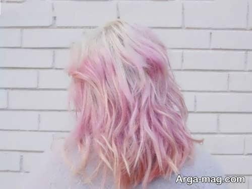رنگ موی هایلایت رز گلد