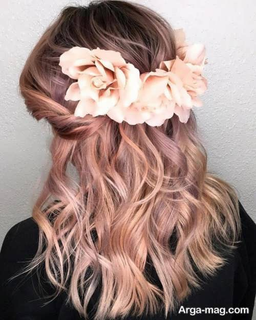 رنگ مو روشن رز گلد