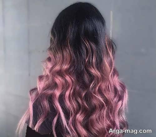 رنگ موی رز گلد زیبا