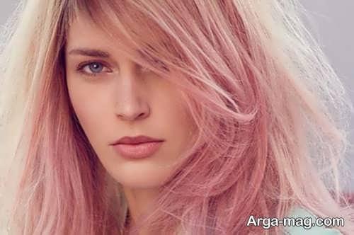 رنگ موی رز گلد روشن