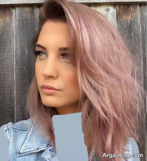 رنگ مو رز گلد روشن و جذاب