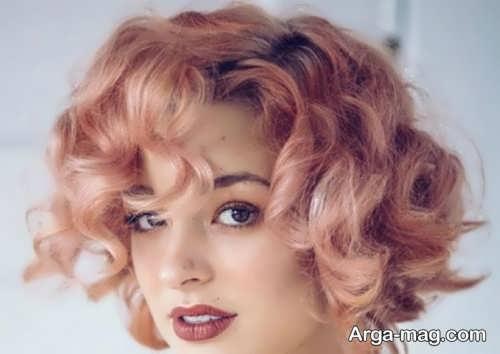 رنگ موی شیک و جذاب رز گلد