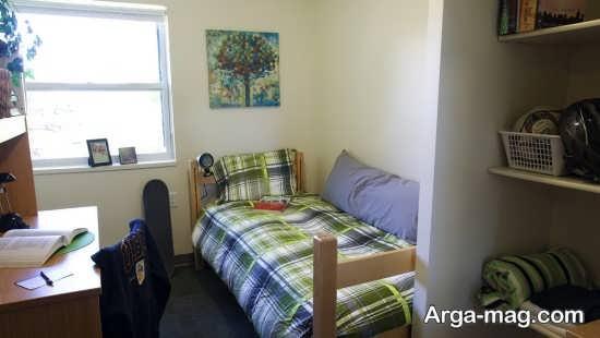 رنگ های شاد تخت خواب اتاق خواب