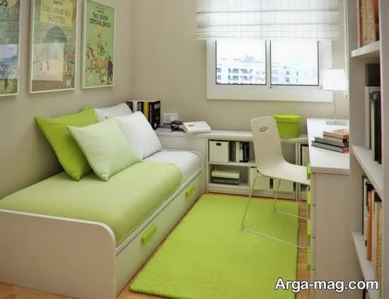 فضای زیبای اتاق برای خواب