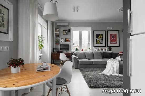 دیزاین عالی اتاق نشیمن آپارتمان کوچک