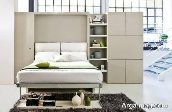 دکوراسیون تخت تاشو در آپارتمان کوچک
