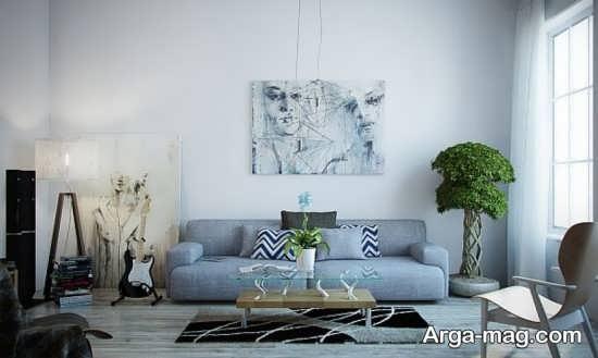 دیزاین مبلمان با تم آبی