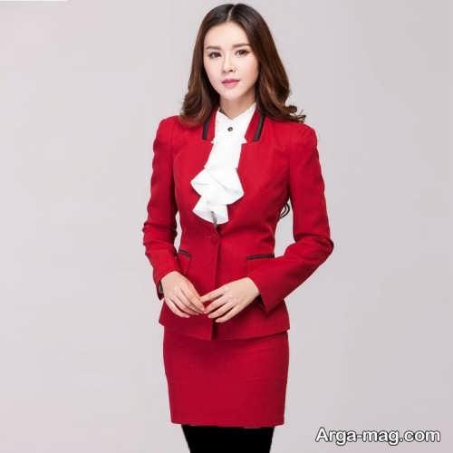 مدل کت دامن قرمز زنانه