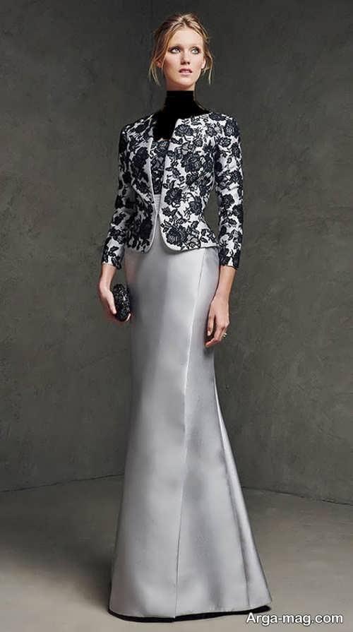 مدل کت دامن بلند و گیپور زنانه