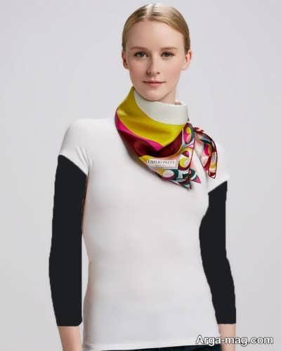 روش بستن دستمال گردن زنانه