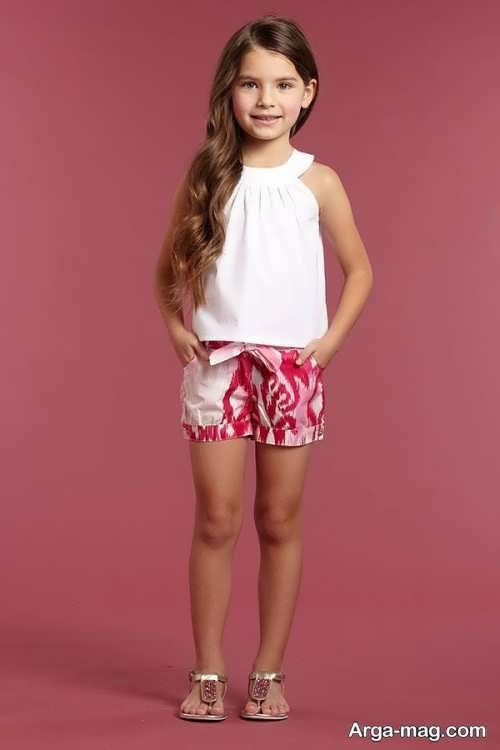 مدل تاپ و شلوارک دخترانه بچه گانه