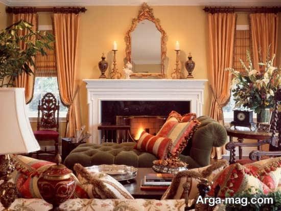 دکوراسیون عالی اتاق نشیمن به سبک کلاسیک