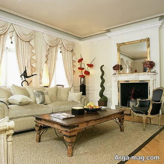 تزیینات فضای داخلی اتاق نشیمن به سبک سنتی