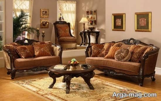 طراحی سنتی اتاق نشیمن