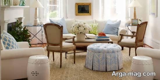 چیدمان عالی اتاق نشیمن به سبک سنتی