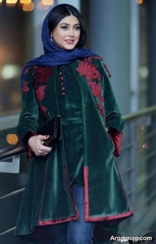 مدل پالتوی مخملی زیبا