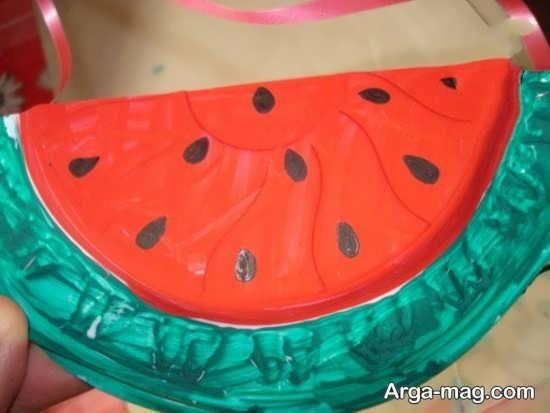 کاردستی هندوانه برای کودکان
