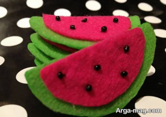 ساخت هندوانه با نمد