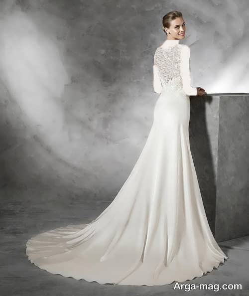 لباس عروس دنباله دار برای افراد قد بلند