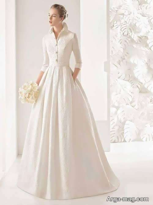 مدل لباس عروس پوشیده برای خانم های قد بلند