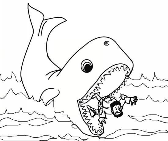 نقاشی جالب و کودکانه نهنگ