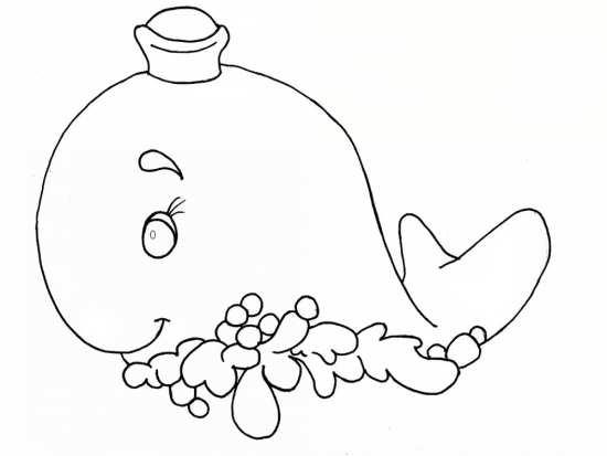نقاشی نهنگ برای رنگ آمیزی بچه ها
