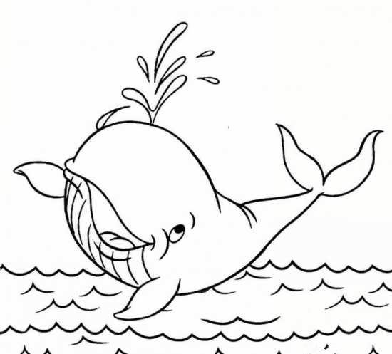 نقاشی زیبا و جالب نهنگ