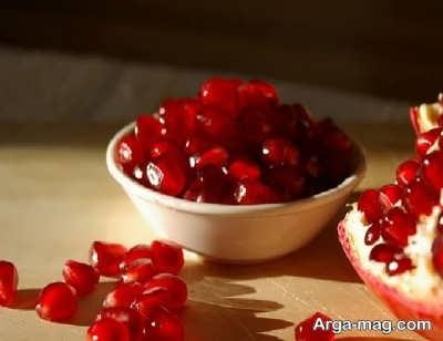 انار دانه شده جهت تهیه دسر انار شب یلدا