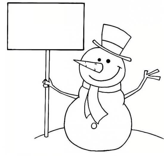 نقاشی آدم برفی