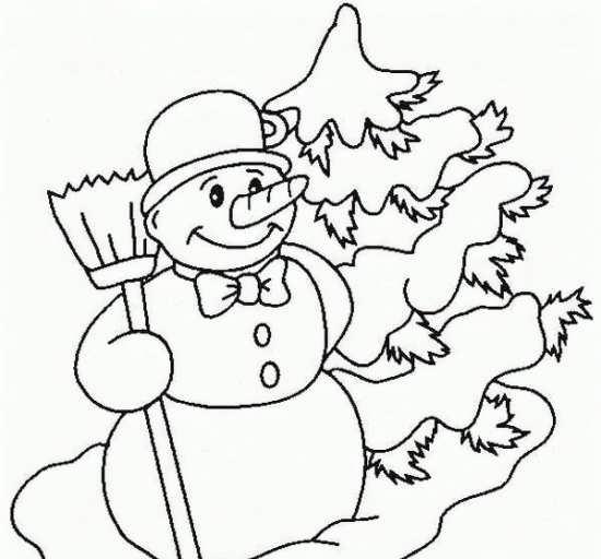 نقاشی آدم برفی برای شب یلدا