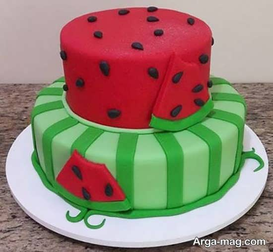 تزیینات کیک شب یلدا با شکل های زیبا