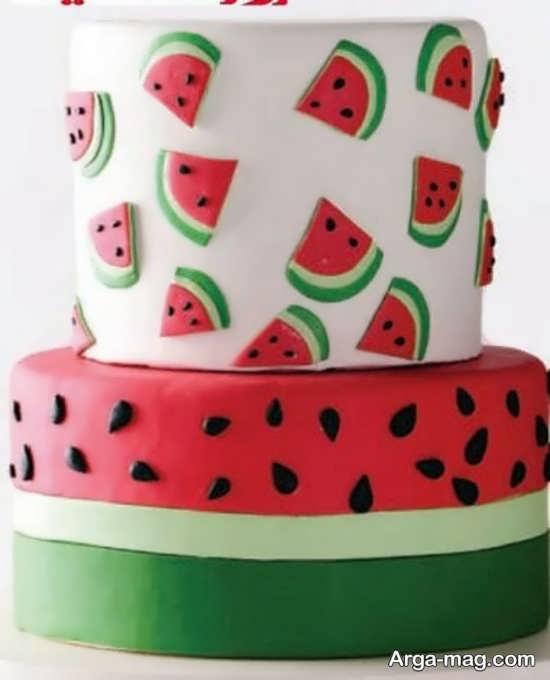 متفاوت ترین تزیین کیک شب یلدا
