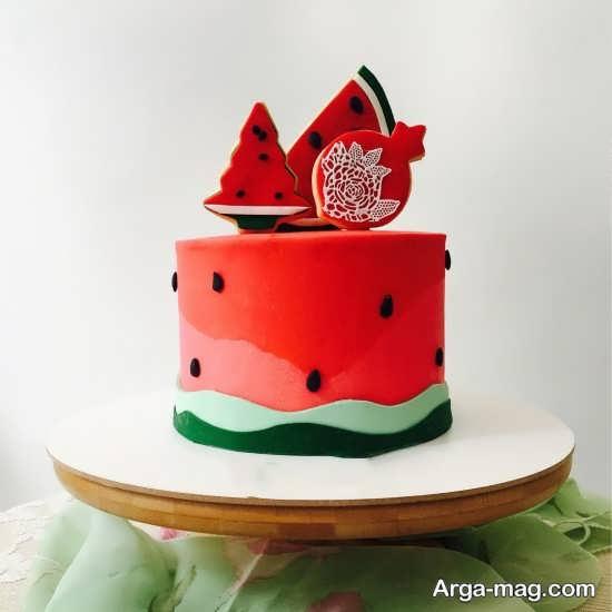 تزیینات کیک شب یلدا با شکل های شیک