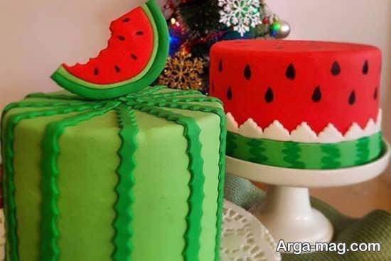 تزیینات کیک شب یلدا با شکل های جالب