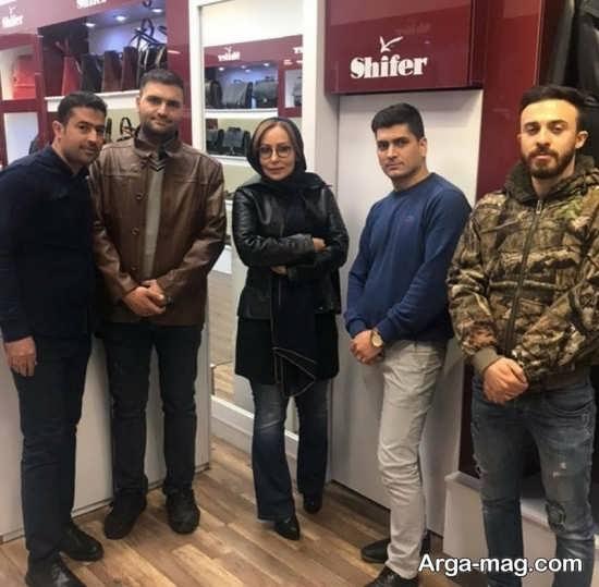 مدل کاپشن چرم پرستو صالحی