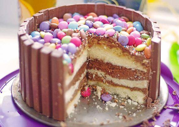 تزئین کیک بدون خامه با شکلات