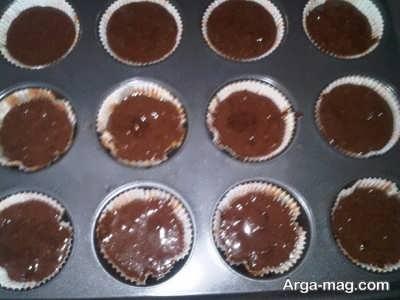 قالب تهیه کاپ کیک شکلاتی
