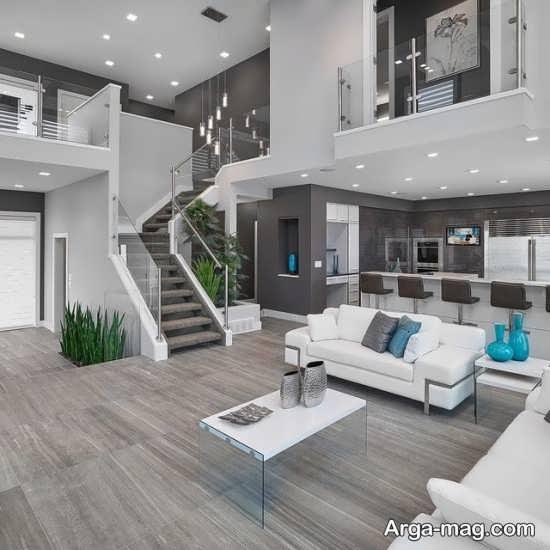 طراحی منزل بارنگ خاکستری