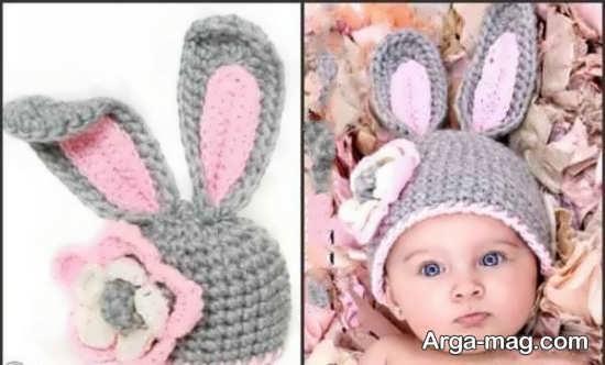 مدل شال و کلاه بافتنی برای کودک
