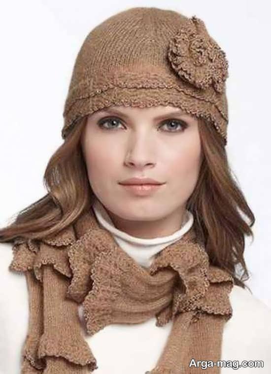 مدل شال و کلاه زمستانه