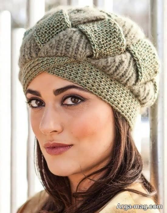 طرح کلاه بافتنی دخترانه