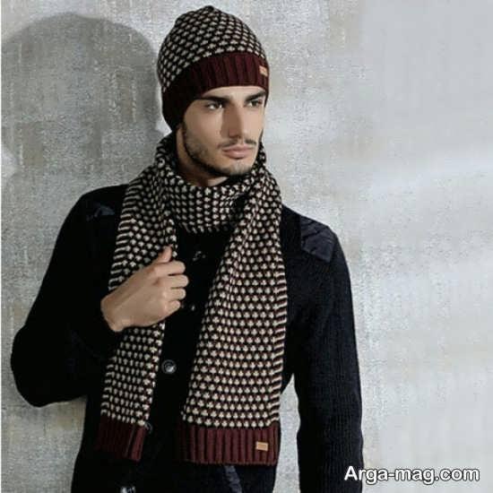 مدل کلاه و شال مردانه