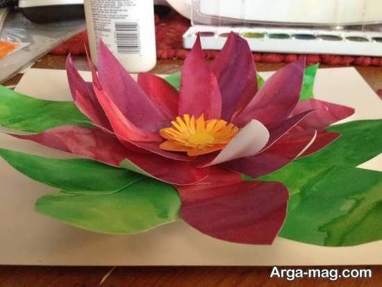 کاردستی گل مرداب کاغذی